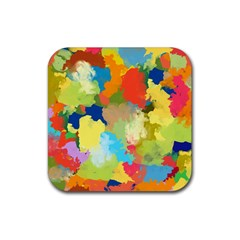 Summer Feeling Splash Rubber Coaster (square)  by designworld65