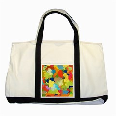 Summer Feeling Splash Two Tone Tote Bag by designworld65