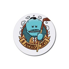 Meeseeks Rubber Round Coaster (4 Pack)  by quirogaart