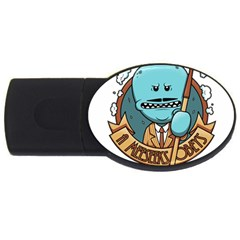Meeseeks Usb Flash Drive Oval (4 Gb) by quirogaart