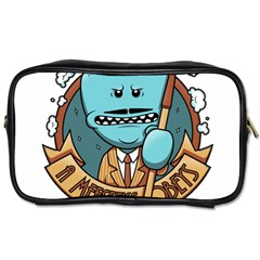 Meeseeks Toiletries Bags 2 Side by quirogaart