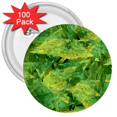 Green Springtime Leafs 3  Buttons (100 Pack)  by designworld65