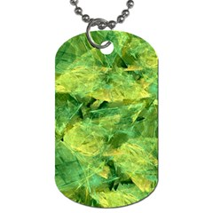 Green Springtime Leafs Dog Tag (two Sides) by designworld65