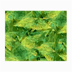 Green Springtime Leafs Small Glasses Cloth (2 Side) by designworld65