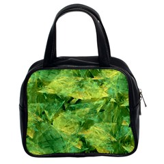 Green Springtime Leafs Classic Handbags (2 Sides) by designworld65