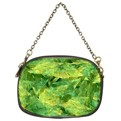 Green Springtime Leafs Chain Purses (one Side)  by designworld65