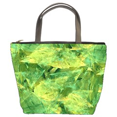 Green Springtime Leafs Bucket Bags by designworld65
