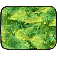 Green Springtime Leafs Double Sided Fleece Blanket (mini)  by designworld65