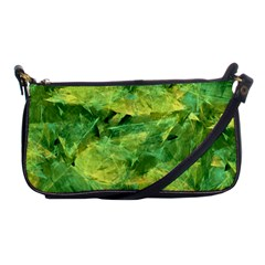 Green Springtime Leafs Shoulder Clutch Bags by designworld65