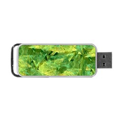Green Springtime Leafs Portable Usb Flash (one Side) by designworld65
