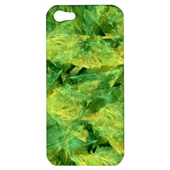 Green Springtime Leafs Apple Iphone 5 Hardshell Case by designworld65