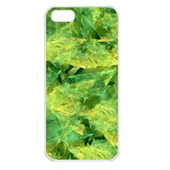 Green Springtime Leafs Apple Iphone 5 Seamless Case (white) by designworld65