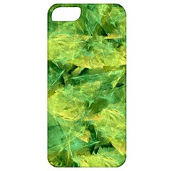 Green Springtime Leafs Apple Iphone 5 Classic Hardshell Case by designworld65