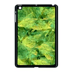 Green Springtime Leafs Apple Ipad Mini Case (black) by designworld65