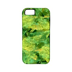 Green Springtime Leafs Apple Iphone 5 Classic Hardshell Case (pc+silicone) by designworld65