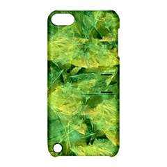 Green Springtime Leafs Apple Ipod Touch 5 Hardshell Case With Stand by designworld65