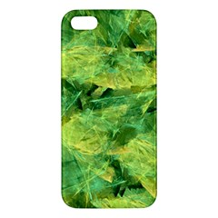 Green Springtime Leafs Apple Iphone 5 Premium Hardshell Case by designworld65