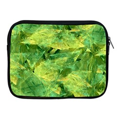 Green Springtime Leafs Apple Ipad 2/3/4 Zipper Cases by designworld65