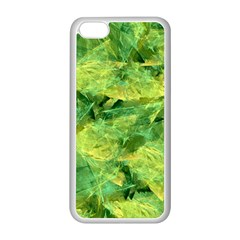 Green Springtime Leafs Apple Iphone 5c Seamless Case (white) by designworld65