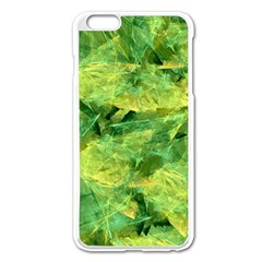 Green Springtime Leafs Apple Iphone 6 Plus/6s Plus Enamel White Case by designworld65