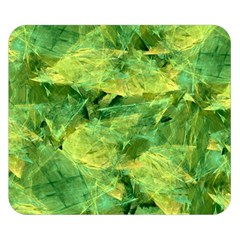 Green Springtime Leafs Double Sided Flano Blanket (small)  by designworld65
