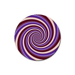 Woven Spiral Rubber Round Coaster (4 Pack)  by designworld65