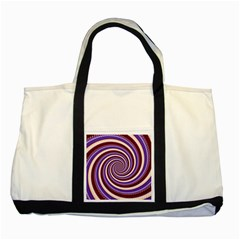 Woven Spiral Two Tone Tote Bag by designworld65