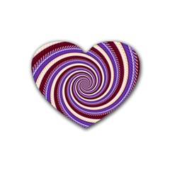 Woven Spiral Rubber Coaster (heart)  by designworld65