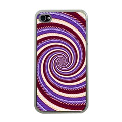 Woven Spiral Apple Iphone 4 Case (clear) by designworld65