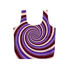 Woven Spiral Full Print Recycle Bags (s)  by designworld65