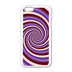 Woven Spiral Apple Iphone 6/6s White Enamel Case by designworld65