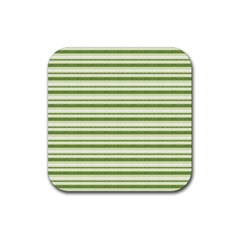 Spring Stripes Rubber Square Coaster (4 Pack)  by designworld65
