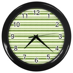 Spring Stripes Wall Clocks (black) by designworld65