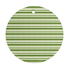 Spring Stripes Round Ornament (two Sides) by designworld65