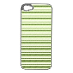 Spring Stripes Apple Iphone 5 Case (silver) by designworld65