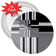 Black And White Endless Window 3  Buttons (10 Pack)  by designworld65