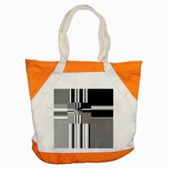Black And White Endless Window Accent Tote Bag by designworld65