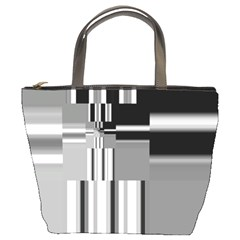 Black And White Endless Window Bucket Bags by designworld65