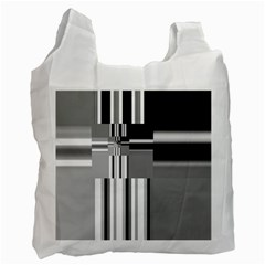 Black And White Endless Window Recycle Bag (one Side) by designworld65