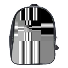 Black And White Endless Window School Bag (large) by designworld65