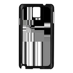 Black And White Endless Window Samsung Galaxy Note 3 N9005 Case (black) by designworld65