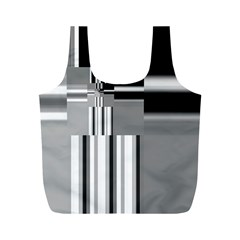 Black And White Endless Window Full Print Recycle Bags (m)  by designworld65
