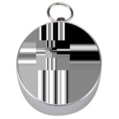 Black And White Endless Window Silver Compasses by designworld65