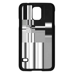 Black And White Endless Window Samsung Galaxy S5 Case (black) by designworld65