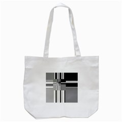 Black And White Endless Window Tote Bag (white) by designworld65