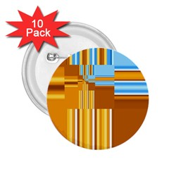 Endless Window Blue Gold 2 25  Buttons (10 Pack)  by designworld65