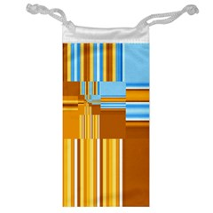 Endless Window Blue Gold Jewelry Bag by designworld65