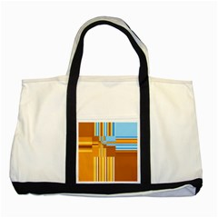 Endless Window Blue Gold Two Tone Tote Bag by designworld65