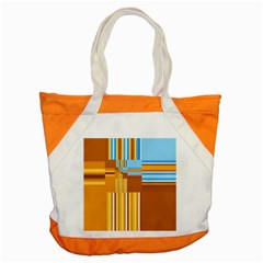 Endless Window Blue Gold Accent Tote Bag by designworld65