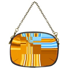 Endless Window Blue Gold Chain Purses (one Side)  by designworld65